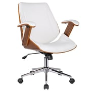 Porthos Home Noah High-Back Office Chair with Arms; Flat White