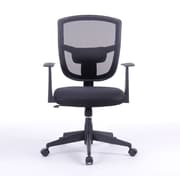 Porthos Home Darius 35.8'' Mid-back Mesh Office Chair with Arms; Black