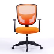 Porthos Home Darius 35.8'' Mid-back Mesh Office Chair with Arms; Orange
