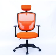 Porthos Home Justinian 35.5'' Adjustable Office Chair with Arms; Orange