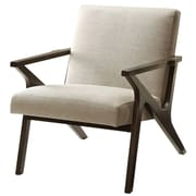 !nspire Upholstered Accent Arm Chair; Beige