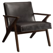 !nspire Upholstered Accent Arm Chair; Brown