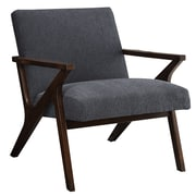 !nspire Upholstered Accent Arm Chair; Gray