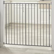 Storkcraft Easy Walk-Thru Tall Metal Safety Gate; Gray