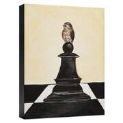 Ashton Wall D cor LLC Birds 'Black Chess' Painting Print on Wrapped Canvas