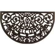 Envelor Home Half Round Wrought Iron Rubber Welcome Mat