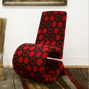 Wholesale Interiors Baxton Studio Forte Red and Black Patterned Accent Chair