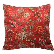 Traditions by Waverly Navarra Floral Decorative Throw Pillow (Set of 2); Crimson