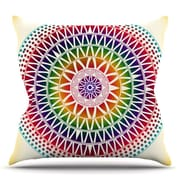 KESS InHouse Colorful Vibrant Mandala by Famenxt Throw Pillow; 26'' H x 26'' W x 5'' D