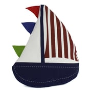 Handcrafted Nautical Decor Flag Hoisted Sailboat Decorative Throw Pillow