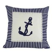 Handcrafted Nautical Decor Anchor Stripes Decorative Throw Pillow