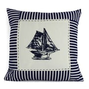 Handcrafted Nautical Decor Sloop Stripes Decorative Throw Pillow