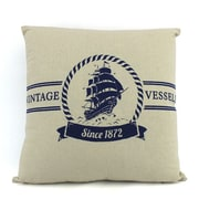 Handcrafted Nautical Decor Vintage Vessels 1872 Decorative Throw Pillow