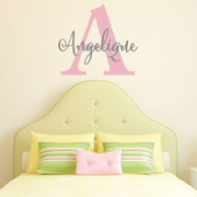 SissyLittle Cursive Capital Girl Wall Decal; Carnation / Middle Gray