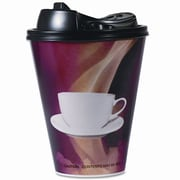 Boardwalk Paper Wrapped Foam Hot Cups, 20 Ounces, Black and White, 90 Per Carton