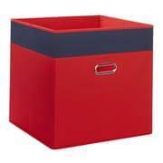 RiverRidge Kids Jumbo Folding Storage Bin; Red/Navy