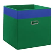 RiverRidge Kids Jumbo Folding Storage Bin; Green/Blue