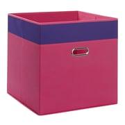 RiverRidge Kids Jumbo Folding Storage Bin; Hot Pink/Dark Purple