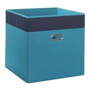 RiverRidge Kids Jumbo Folding Storage Bin; Turquoise/Navy