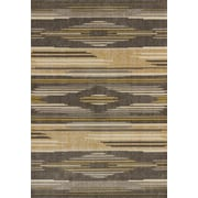 United Weavers of America Contours Native Chic Grey Area Rug; 5'3'' x 7'2''