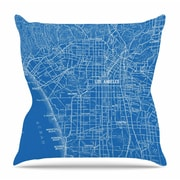 KESS InHouse Los Angeles Streets by Catherine Holcombe Throw Pillow; 26'' H x 26'' W x 5'' D