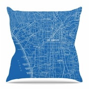 KESS InHouse Los Angeles Streets by Catherine Holcombe Throw Pillow; 16'' H x 16'' W x 3'' D