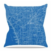KESS InHouse Los Angeles Streets by Catherine Holcombe Throw Pillow; 18'' H x 18'' W x 3'' D