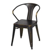 New Pacific Direct Metropolis Metal Arm Chair (Set of 4); Distressed Coper