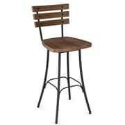 Amisco Dock Swivel Bar Stool; Medium Brown