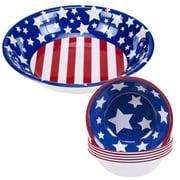 Certified International Stars and Stripes Melamine Serving Bowl 5-Piece-Set