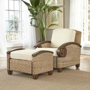 Home Styles Cabana Banana III Arm Chair and Ottoman; Honey