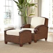 Home Styles Cabana Banana III Arm Chair and Ottoman; Cinnamon