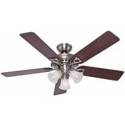 Hunter Fan 52'' Sontera 5 Blade Fan w/ Remote; Brushed Nickel with Cherry/Maple Blades
