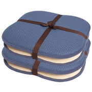 Sweet Home Collection Dining Chair Cushion (Set of 4); Blue
