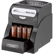Royal Sovereign 200 Coins Electric 1 Row Coin Sorter, 50 Pennies/40 Nickels/50 Dimes/40 Quarters, Black (QS-1AC)