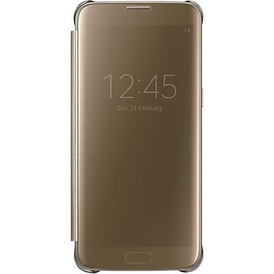 Samsung S-View Flip Cover for Samsung Galaxy S7 Edge, Gold (EF-ZG935CFEGUS)