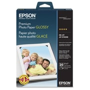 "Epson Premium High Gloss Photo Paper, 5"" x 7"", White (S041464)"