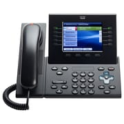 Cisco™ CP-8961-C-K9-RF 5-Line Conference Corded Unified Standard Handset IP Phone, Office Phones, Charcoal
