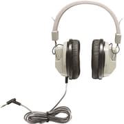 Hamilton Buhl HA7 SchoolMate™ Deluxe Stereo Headphone with Plug, Over-the-Ear, Black/Beige