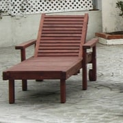 Best Redwood Sun Chaise Lounge; Clear