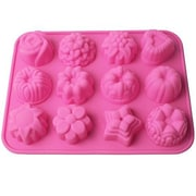 GGI International Flowers Non Stick Silicone Cake, Chocolate and Jelly Candy Baking Mold