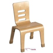 ECR4Kids Wood Classroom Chair Boots (Set of 20); Large