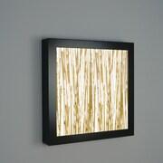 WPT Design V-II 4 Light Square Wall Sconce; Savannah Glass