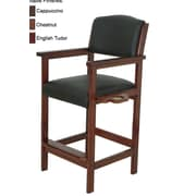 RAM Game Room Specialty Bar Stool with Cushion; English Tudor