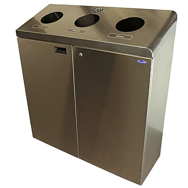 Frost Floor Standing Customizable Recycling Station, Stainless Steel