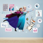 Fathead Disney Frozen - Ice Skating  Peel and Stick Wall Decal