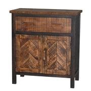 Gallerie Decor Wovenwood 1 Door 1 Drawer Cabinet; Espresso / Brown