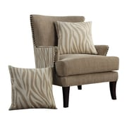 Emerald Home Furnishings Out Of Africa Arm Chair; Kipling Sisal