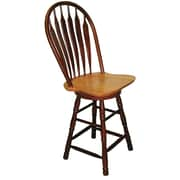 Sunset Trading 30'' Swivel Bar Stool; Nutmeg Light Oak