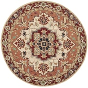 Safavieh Chelsea Red / Ivory Outdoor Area Rug; Round 8'